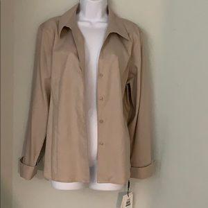 NWT Calvin Klein shirt style light blazer 16